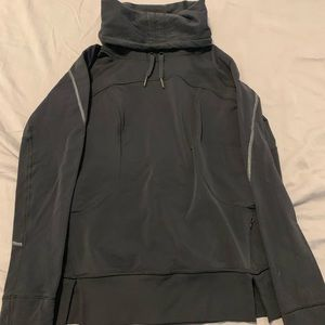 Black Lululemon Pullover with drawstring Cowl neck